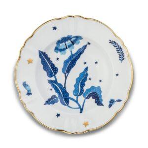 BITOSSI – Piatto fondo fiore blu