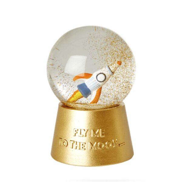 RICE DK - Carillon Snow globe con musica nello spazio