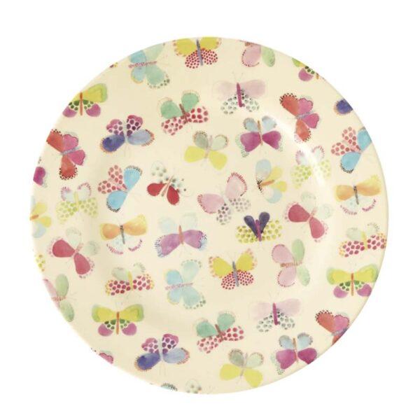 RICE DK - Piatto Frutta Melamina Butterfly print
