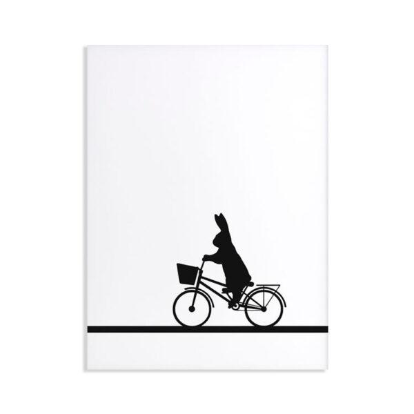 HAM - City Bike Rabbit - Coniglio in bicicletta 30 x 40