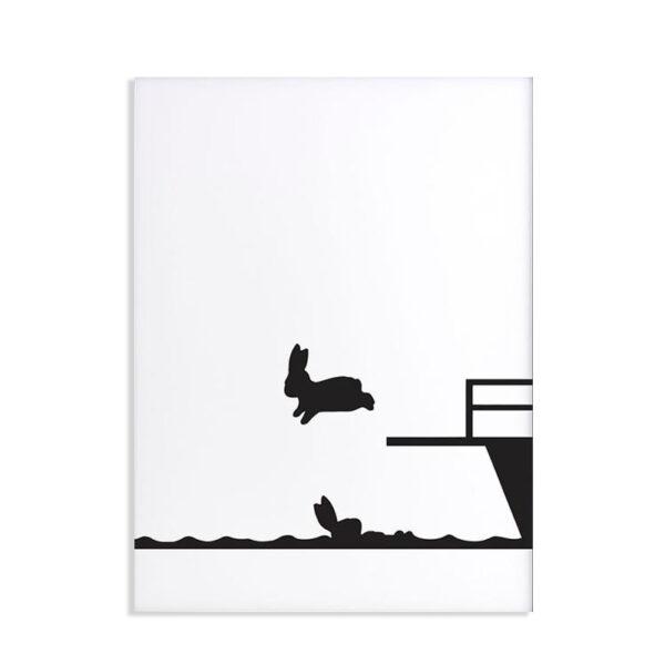 HAM - Diving Rabbit - Coniglio 30 x 40