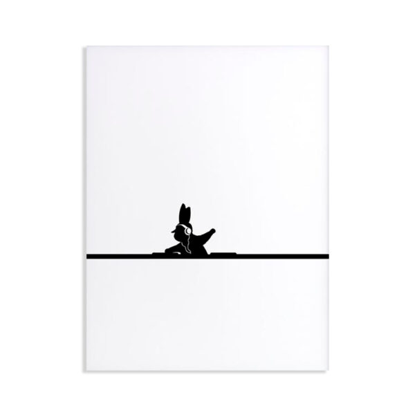 HAM - DJ rabbit - Coniglio Dj 30 x 40