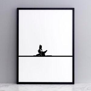 HAM – DJ rabbit – Coniglio Dj 30 x 40