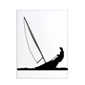 HAM – Sailing rabbit – Coniglio sciatore 30 x 40