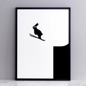 HAM – Ski jumping – Coniglio sciatore 30 x 40