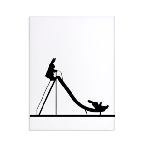HAM – Sliding Rabbit – scivolo per bambini 30 x 40