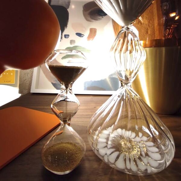 BITOSSI - Time Mini Clessidra, Trasparente/Oro