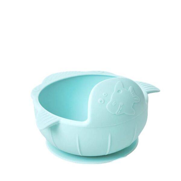 RICE DK - Coppa neonato Silicone- Soft Blue