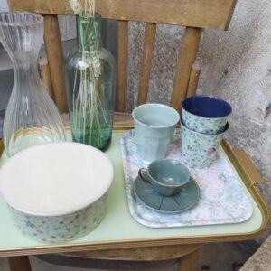 RICE DK – Bicchiere melamina blue floral