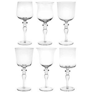 Bitossi Home – Set 6 Calici Vino vetro trasparente