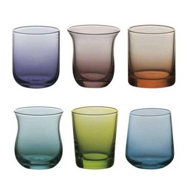 Bitossi Home - Set 6 Bicchieri acqua - Blu Verde Forme Assortite